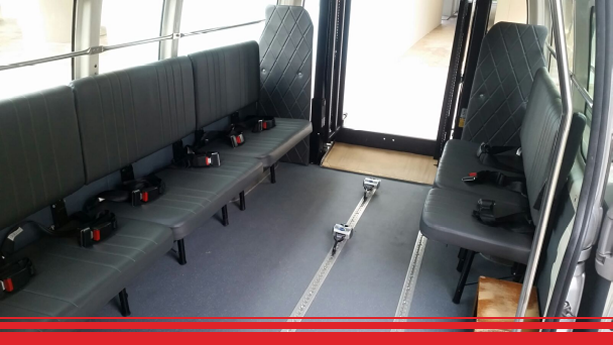 LTA approved seat belts and locking system to ensure safety of our patients